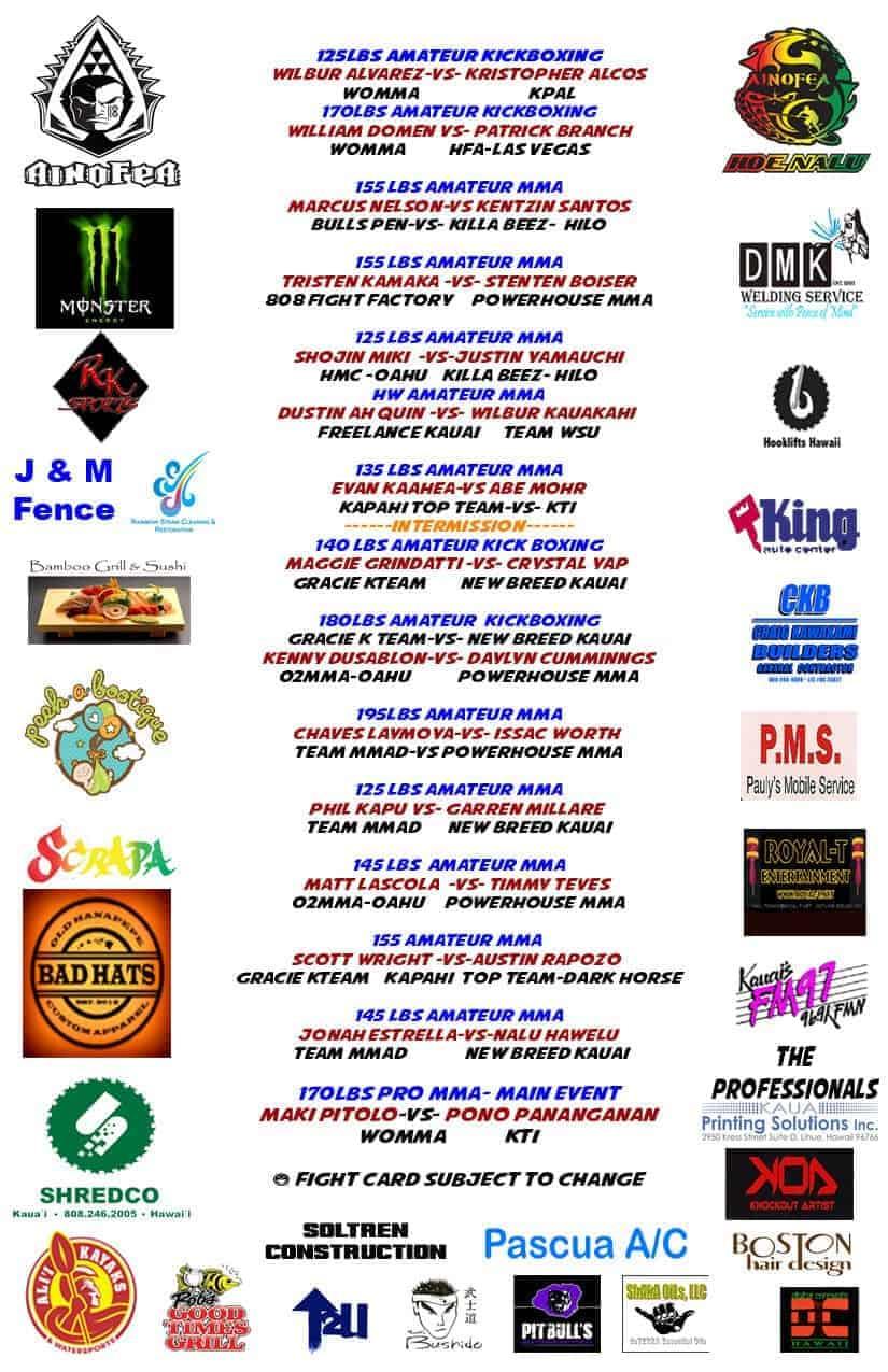 Ainofea feb 15 fight card flyer copy