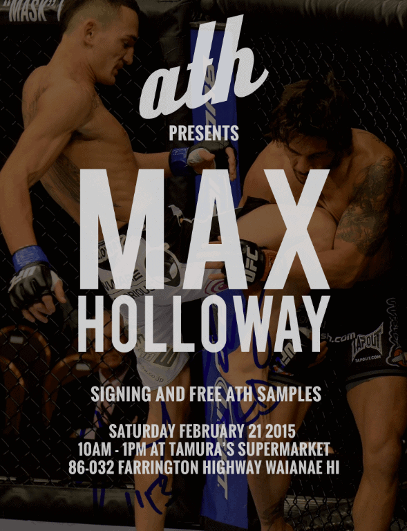 ath presents Max Holloway
