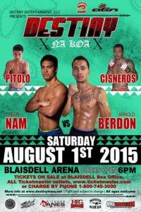 Professional Cage Fighting at the Blaisdell Arena Destiny MMA presents Na Koa 10