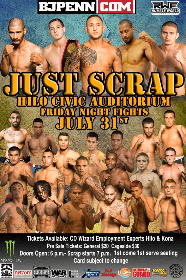 Just Scrap Rumble World Entertainment by BJ Penn