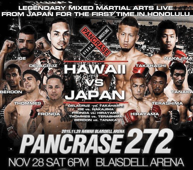 Pancrase 272 Hawaii versus Japan Full Fight
