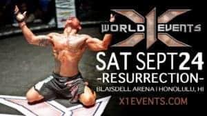 X1 World Events MMA Sept 24 2016