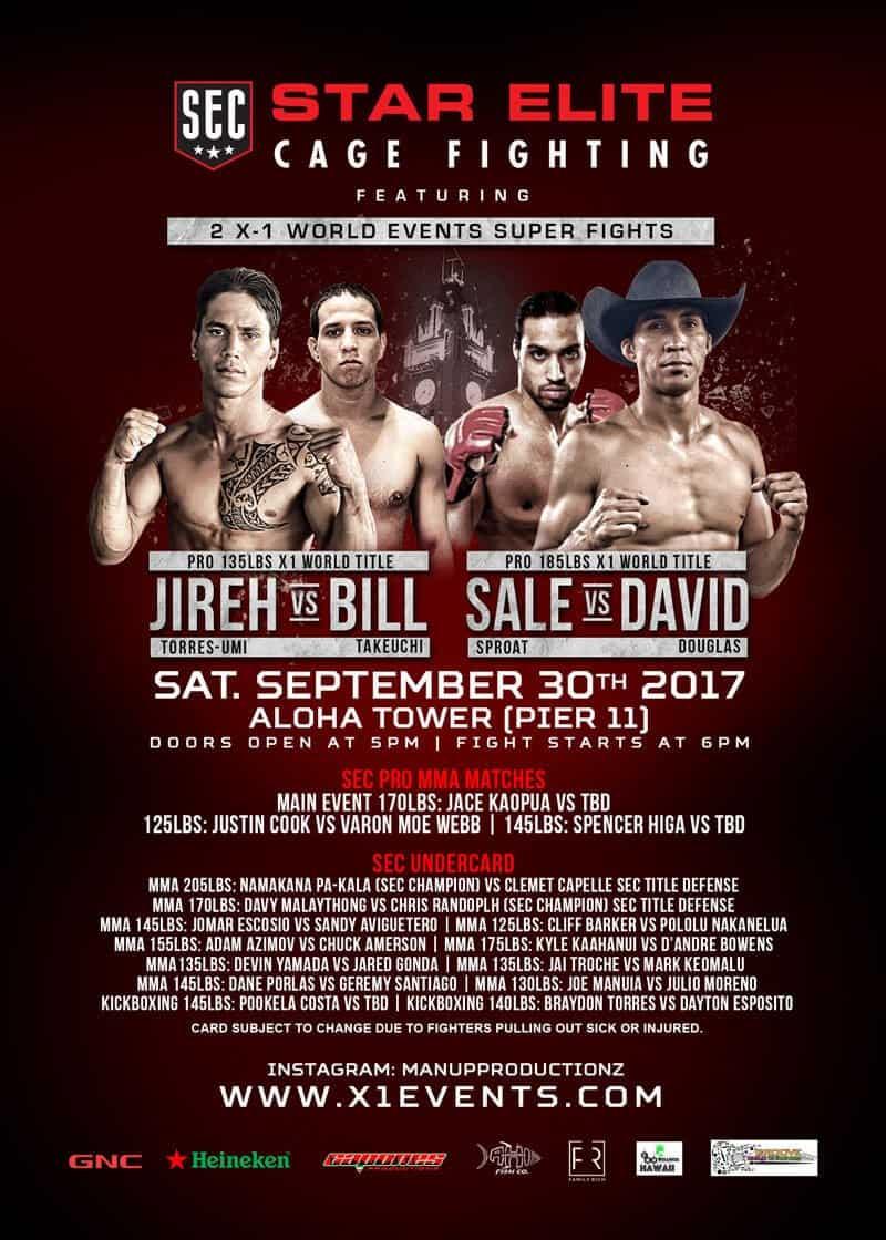 Hawaii MMA Star Elite Cage Fighting SEC X1
