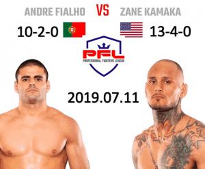 Andre Fialho vs Zane Kamaka PFL 2019 Fight