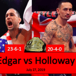 UFC 240: Edgar vs Holloway