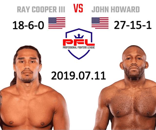 PFL PHOTO: Ray Cooper 3 vs John Howard