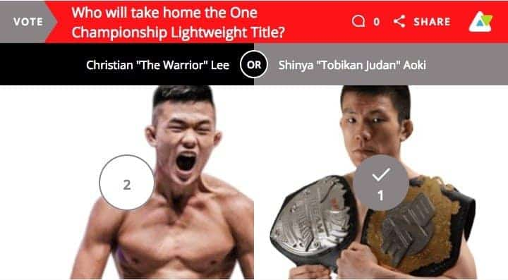 VOTE! Who do you think will win, Lee vs Aoki