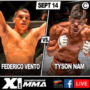 Tyson Nam vs Federico Vento X156 poster