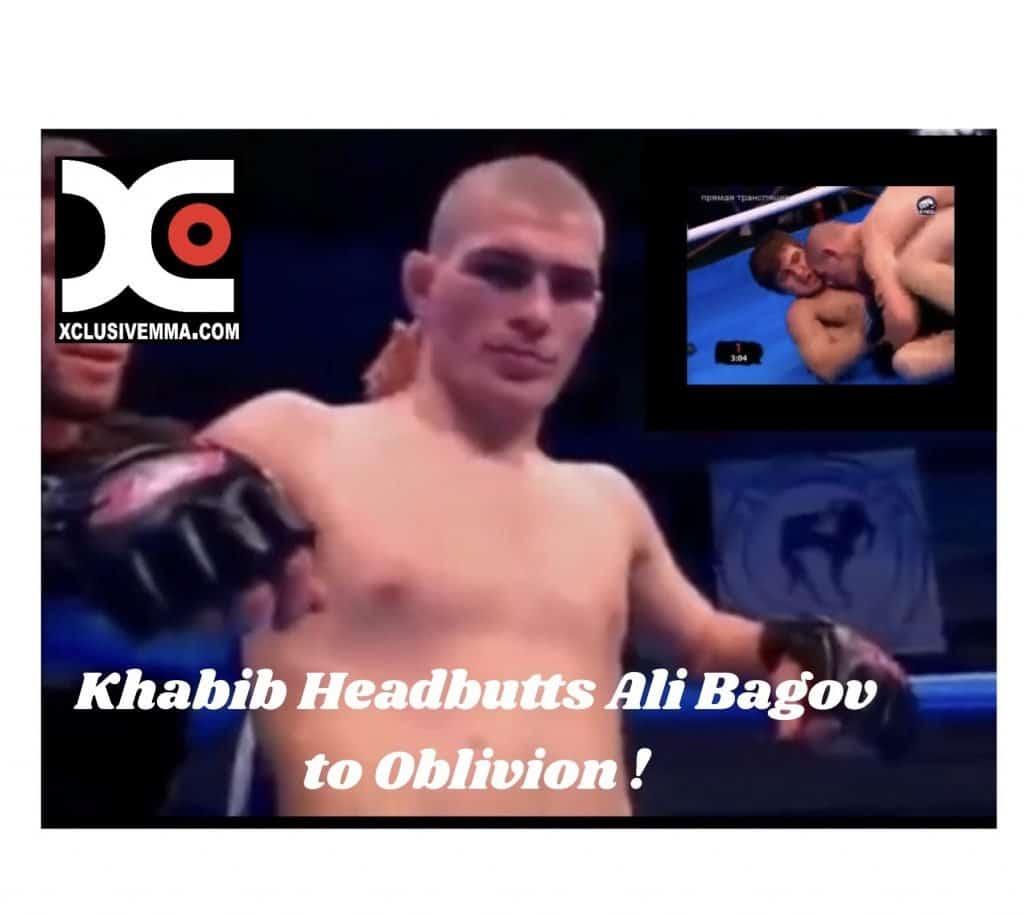 Khabib headbutts