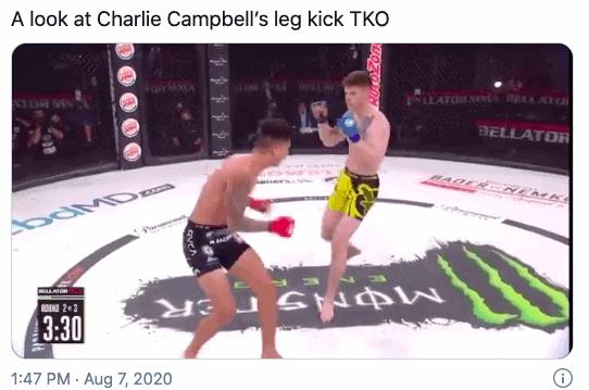 Charlie Campbell leg kick