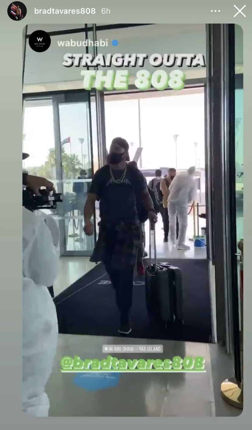 Hawaii MMA News: Brad Tavares arrived at W Hotel Abu DhabiHawaii MMA News: Brad Tavares arrived at W Hotel Abu Dhabi