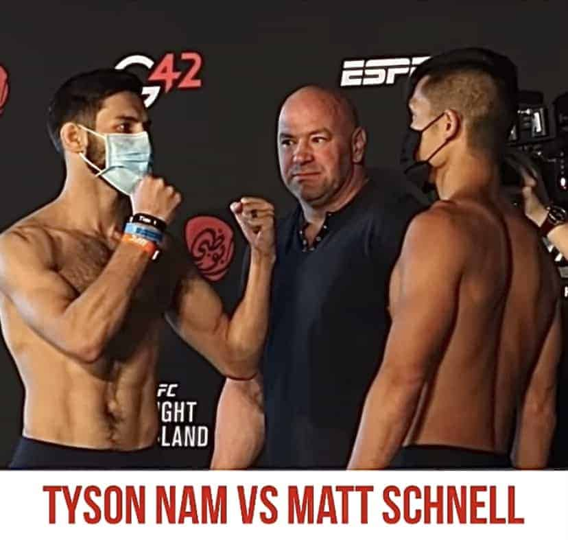 Hawaii MMA News Tyson Nam Matt Schnell face offs