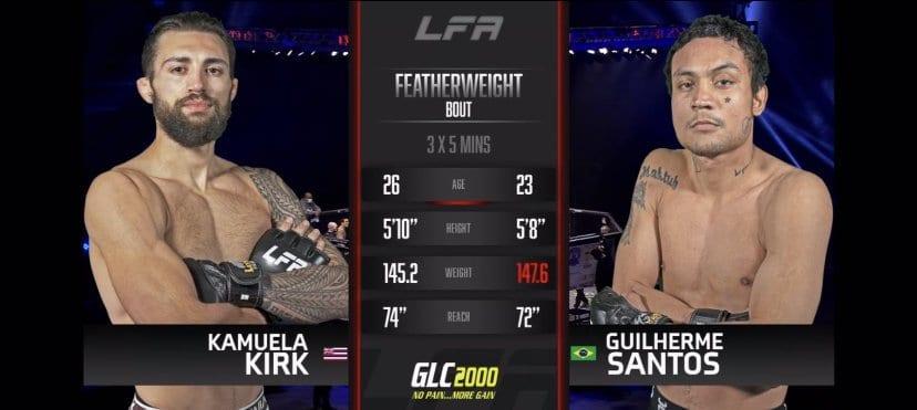 Kamuela Kirk vs Guilherme Santos
