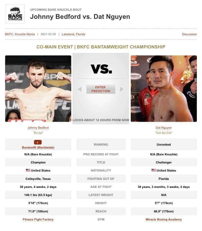 Dat Nguyen vs John Bedford