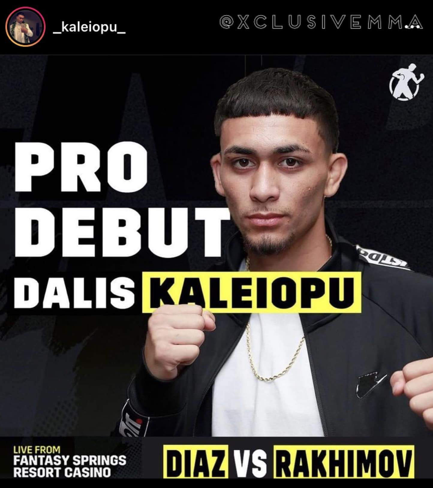 Hawaii MMA News : Dalis Kaleiopu PRO Boxing debut