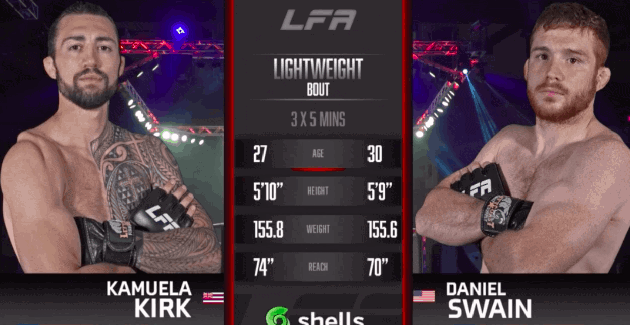 Kamuela Kirk vs Daniel Swain FIght highlights