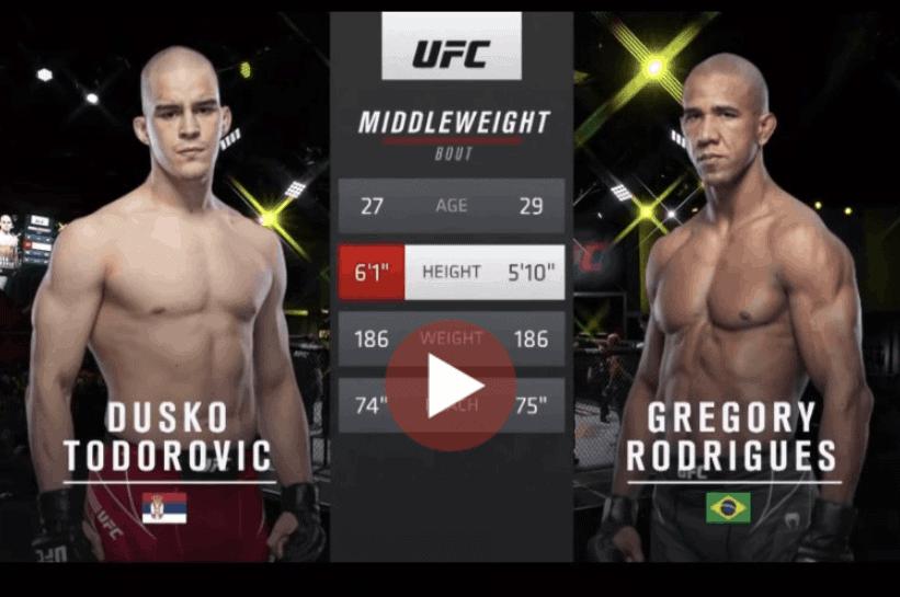 Gregory Rodrigues vs Dusko Todorovic Full Fight MMA