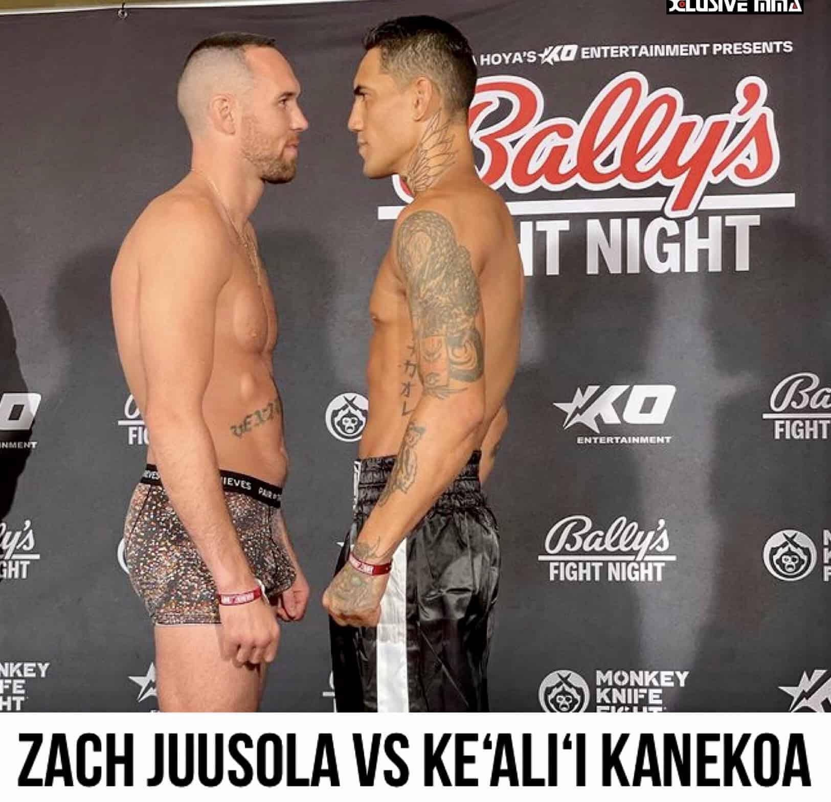Zach Juusola vs. Ke'ali'i Kanekoa