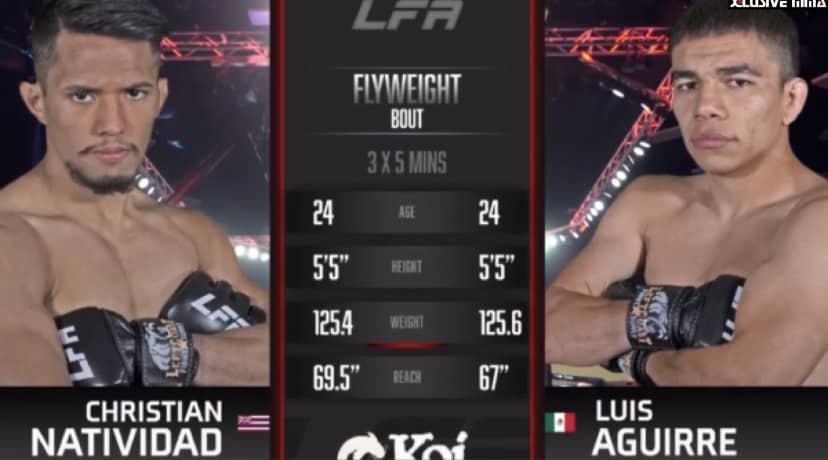 Christian Natividad vs Luis Aguirre Fight Highlights