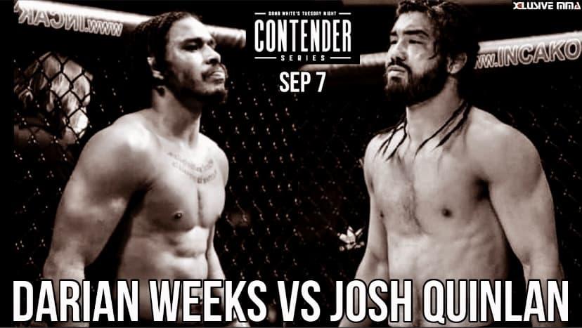 Josh Quinlan Darian Weeks Dana White Contender Series