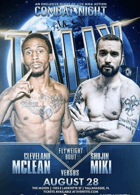Shojin Miki finally squares off with Cleveland McLean at CombatNight August 28