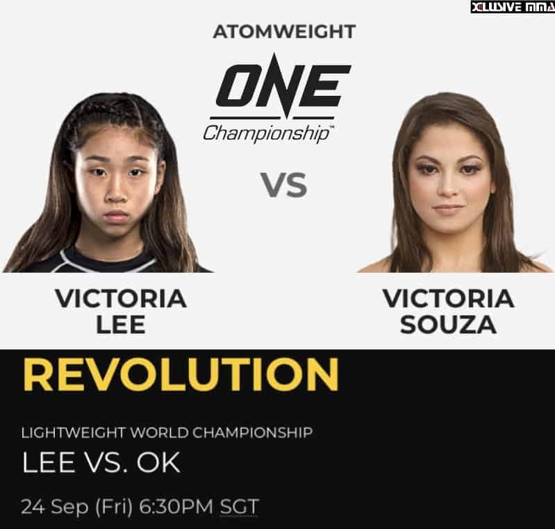 Victoria Lee will face Victoria Souza on Sep 24