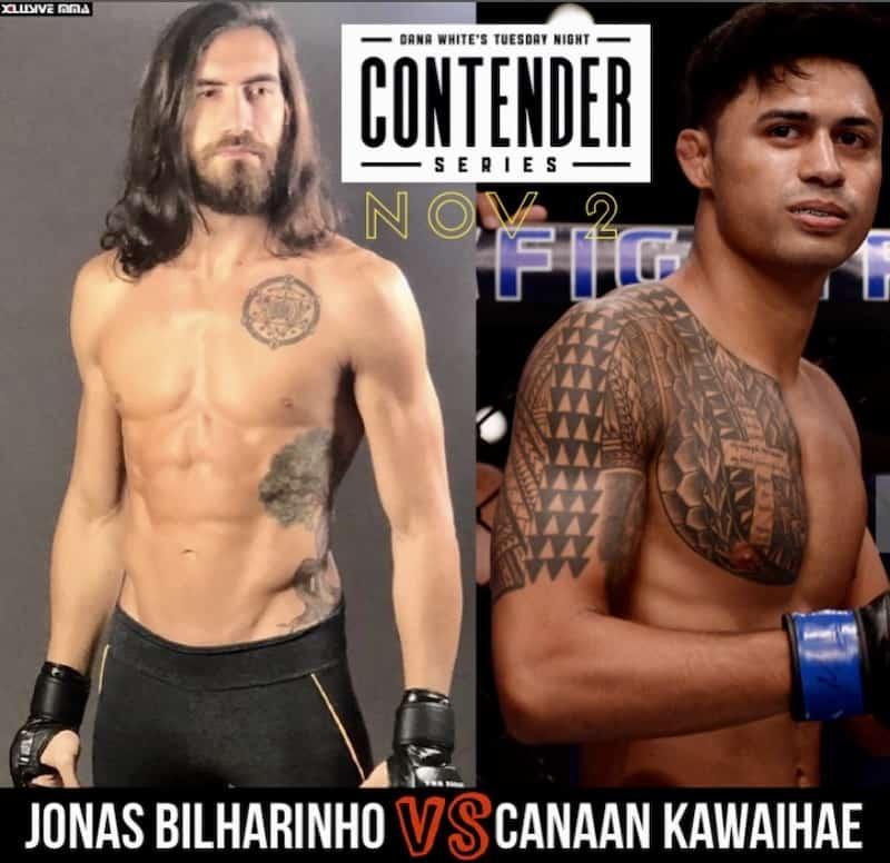 Jonas Bilharinho vs Canaan Kawaihae at Dana White Contender Series