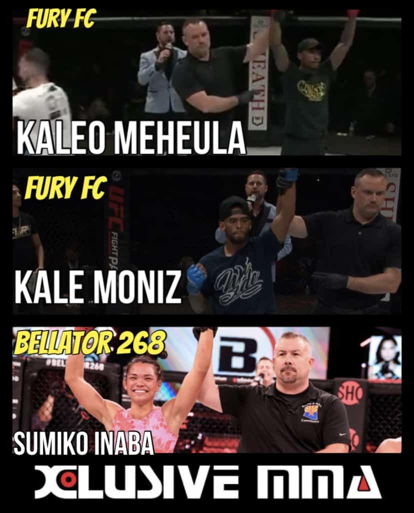 Sumiko Inaba, Kale Moniz and Kaleo Meheula return to Hawaii as winners